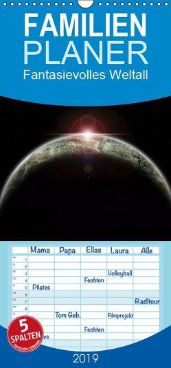 Fantasievolles Weltall – Familienplaner hoch (Wandkalender 2019 , 21 cm x 45 cm, hoch) von Geiling,  Wibke