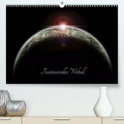 Fantasievolles Weltall (Premium, hochwertiger DIN A2 Wandkalender 2021, Kunstdruck in Hochglanz) von Geiling,  Wibke