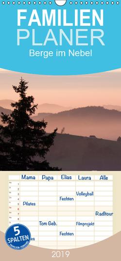 Fantastische Schweizer Bergwelt – Berge im Nebel – Familienplaner hoch (Wandkalender 2019 , 21 cm x 45 cm, hoch) von Friederich,  Rudolf