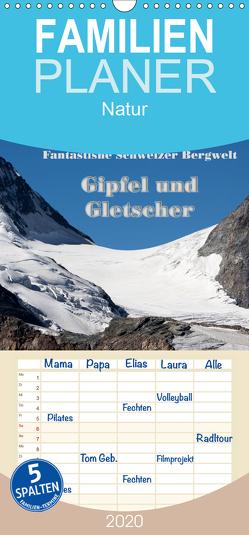 Fantastische Schweizer Bergwelt – Gipfel und Gletscher – Familienplaner hoch (Wandkalender 2020 , 21 cm x 45 cm, hoch) von Friederich,  Rudolf