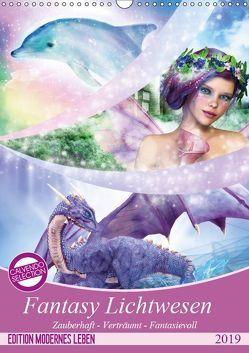 Fantasy Lichtwesen (Wandkalender 2019 DIN A3 hoch) von Shayana Hoffmann,  Gaby