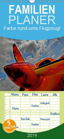 Farbe rund ums Flugzeug! – Familienplaner hoch (Wandkalender 2019 , 21 cm x 45 cm, hoch) von Siemon-Mohrdieck,  Martina