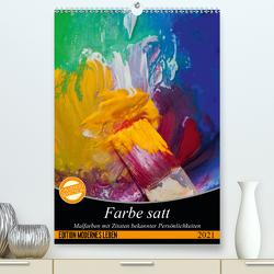 Farbe satt (Premium, hochwertiger DIN A2 Wandkalender 2021, Kunstdruck in Hochglanz) von Gruch,  Ulrike