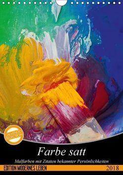 Farbe satt (Wandkalender 2018 DIN A4 hoch) von Gruch,  Ulrike