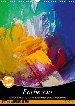 Farbe satt (Wandkalender 2020 DIN A3 hoch) von Gruch,  Ulrike