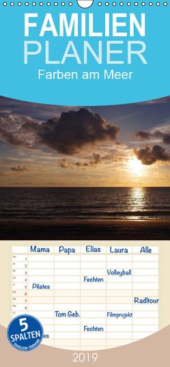 Farben am Meer – Familienplaner hoch (Wandkalender 2019 , 21 cm x 45 cm, hoch) von Schumann,  Bianca