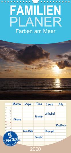 Farben am Meer – Familienplaner hoch (Wandkalender 2020 , 21 cm x 45 cm, hoch) von Schumann,  Bianca