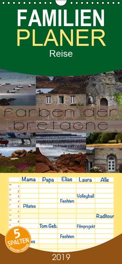 Farben der Bretagne – Familienplaner hoch (Wandkalender 2019 , 21 cm x 45 cm, hoch) von Cross,  Martina