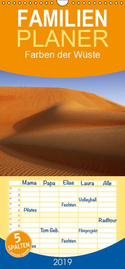 Farben der Wüste – Familienplaner hoch (Wandkalender 2019 , 21 cm x 45 cm, hoch) von Schürholz,  Peter