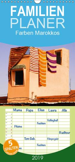 Farben Marokkos – Familienplaner hoch (Wandkalender 2019 , 21 cm x 45 cm, hoch) von Thauwald,  Pia