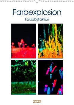 Farbenabstraktion Farbenexplosion (Wandkalender 2020 DIN A3 hoch) von Altenburger,  Monika