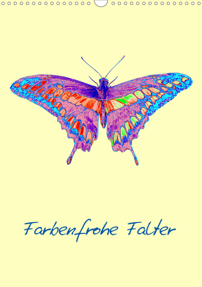 Farbenfrohe Falter (Wandkalender 2020 DIN A3 hoch) von Winter,  Eike