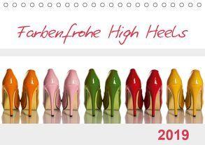 Farbenfrohe High Heels (Tischkalender 2019 DIN A5 quer) von Laser,  Britta