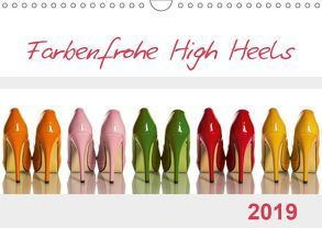 Farbenfrohe High Heels (Wandkalender 2019 DIN A4 quer) von Laser,  Britta