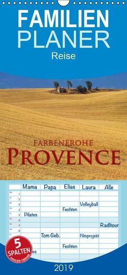 Farbenfrohe Provence – Familienplaner hoch (Wandkalender 2019 , 21 cm x 45 cm, hoch) von Janka,  Rick