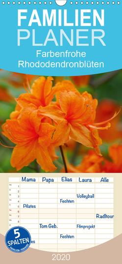 Farbenfrohe Rhododendronblüten – Familienplaner hoch (Wandkalender 2020 , 21 cm x 45 cm, hoch) von kattobello