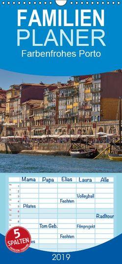 Farbenfrohes Porto – Familienplaner hoch (Wandkalender 2019 , 21 cm x 45 cm, hoch) von Bangert,  Mark