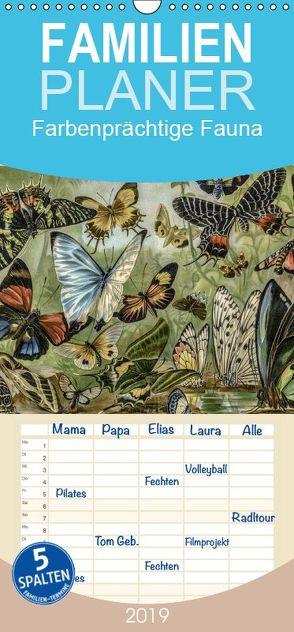 Farbenprächtige Fauna. Fische, Vögel, Schmetterlinge in Grafiken des 19 Jahrhunderts – Familienplaner hoch (Wandkalender 2019 <strong>21 cm x 45 cm</strong> hoch) von Galle,  Jost