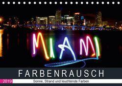 Farbenrausch in Miami Beach (Tischkalender 2019 DIN A5 quer) von CALVENDO