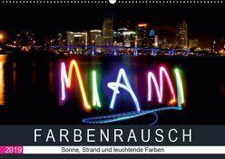 Farbenrausch in Miami Beach (Wandkalender 2019 DIN A2 quer) von CALVENDO