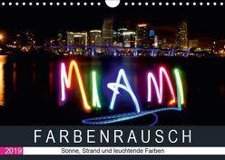 Farbenrausch in Miami Beach (Wandkalender 2019 DIN A4 quer) von CALVENDO