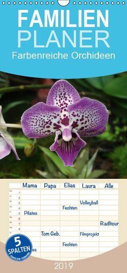 Farbenreiche Orchideen – Familienplaner hoch (Wandkalender 2019 , 21 cm x 45 cm, hoch) von Herkenrath,  Sven