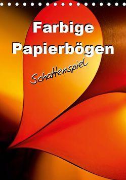 Farbige Papierbögen Schattenspiel (Tischkalender 2019 DIN A5 hoch) von Schwarze,  Nina