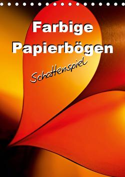 Farbige Papierbögen Schattenspiel (Tischkalender 2021 DIN A5 hoch) von Schwarze,  Nina