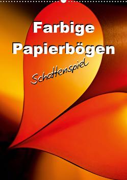 Farbige Papierbögen Schattenspiel (Wandkalender 2021 DIN A2 hoch) von Schwarze,  Nina