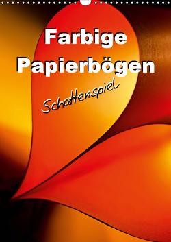 Farbige Papierbögen Schattenspiel (Wandkalender 2021 DIN A3 hoch) von Schwarze,  Nina