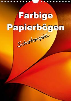 Farbige Papierbögen Schattenspiel (Wandkalender 2021 DIN A4 hoch) von Schwarze,  Nina
