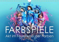 FARBSPIELE – Akt im Feuerwerk der Farben (Wandkalender 2019 DIN A4 quer) von Allgaier (ullision),  Ulrich