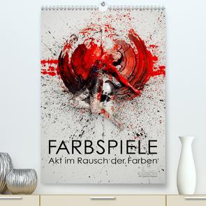 Farbspiele – Akt im Rausch der Farben (Premium, hochwertiger DIN A2 Wandkalender 2021, Kunstdruck in Hochglanz) von Allgaier - www.ullision.com,  Ulrich