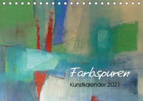Farbspuren – Kunstkalender (Tischkalender 2021 DIN A5 quer) von Tomasch,  Susanne