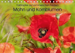 Farbtupfer auf sommerlichen Feldern – Mohn und Kornblumen (Tischkalender 2018 DIN A5 quer) von Frost,  Anja
