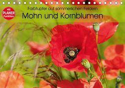 Farbtupfer auf sommerlichen Feldern – Mohn und Kornblumen (Tischkalender 2019 DIN A5 quer) von Frost,  Anja