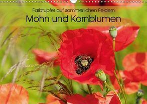 Farbtupfer auf sommerlichen Feldern – Mohn und Kornblumen (Wandkalender 2018 DIN A3 quer) von Frost,  Anja