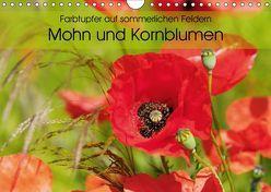 Farbtupfer auf sommerlichen Feldern – Mohn und Kornblumen (Wandkalender 2019 DIN A4 quer) von Frost,  Anja