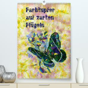 Farbtupfer auf zarten Flügeln (Premium, hochwertiger DIN A2 Wandkalender 2021, Kunstdruck in Hochglanz) von Bleckmann,  Mathias