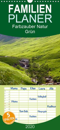 Farbzauber Natur – Grün – Familienplaner hoch (Wandkalender 2020 , 21 cm x 45 cm, hoch) von Paul - Babett's Bildergalerie,  Babett
