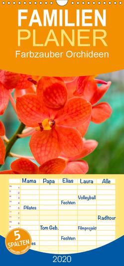 Farbzauber Orchideen – Familienplaner hoch (Wandkalender 2020 , 21 cm x 45 cm, hoch) von Paul - Babett's Bildergalerie,  Babett