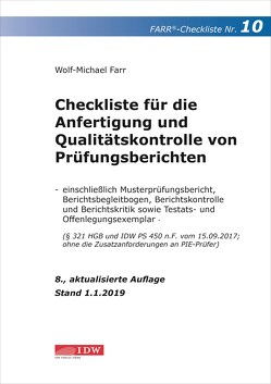 Farr, Checkliste 10 (Prüfungsbericht), 8.A. von Farr,  Wolf-Michael
