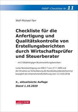 Farr, Checkliste 11 (Erstellungsberichte) 4. Aufl. von Farr,  Wolf-Michael