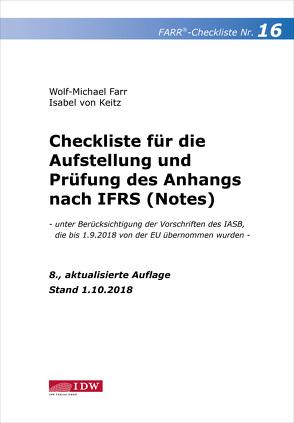 Farr, Checkliste 16 (Anhang n. IFRS), 8. A. von Farr,  Wolf-Michael