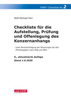Farr, Checkliste 2 (Konzernanhang), 9. Aufl. von Farr,  Wolf-Michael