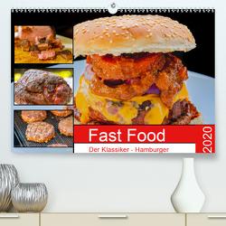 Fast Food Der Klassiker – Hamburger (Premium, hochwertiger DIN A2 Wandkalender 2020, Kunstdruck in Hochglanz) von Sommer Fotografie,  Sven