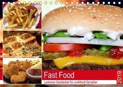 Fast Food. Leckeres Gecklecker für Junkfood-Genießer (Tischkalender 2019 DIN A5 quer) von Hurley,  Rose