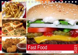 Fast Food. Leckeres Gecklecker für Junkfood-Genießer (Tischkalender 2021 DIN A5 quer) von Hurley,  Rose