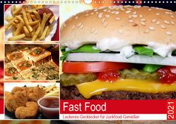 Fast Food. Leckeres Gecklecker für Junkfood-Genießer (Wandkalender 2021 DIN A3 quer) von Hurley,  Rose