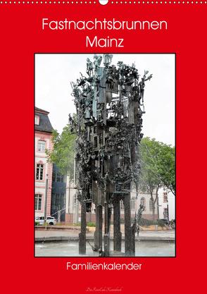 Fastnachtsbrunnen Mainz – Familienkalender (Wandkalender 2020 DIN A2 hoch) von DieReiseEule
